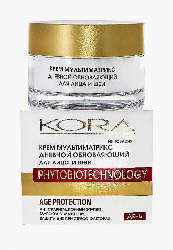 Купить Крем для лица Kora, мультиматрикс дневной обновляющий для лица и шеи, ko015lwebel9, белый, Весна-лето 2019