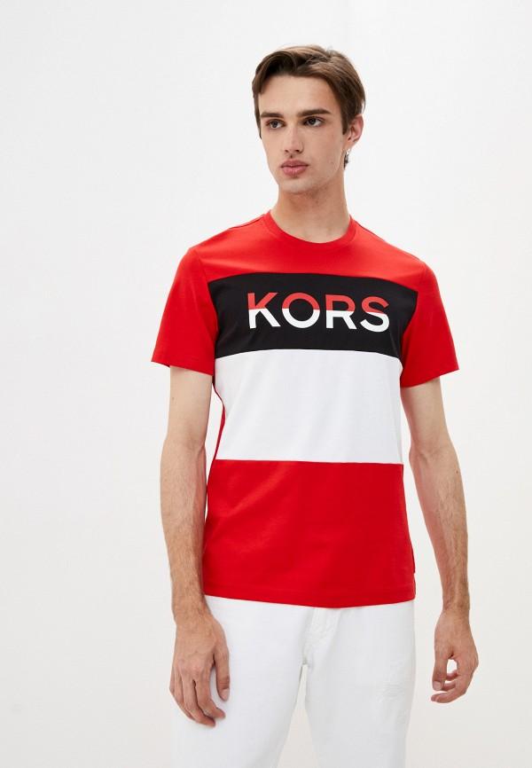 мужская футболка kors x tech, красная