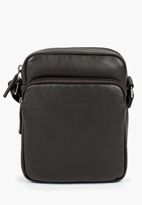 мужская сумка lancaster, коричневая