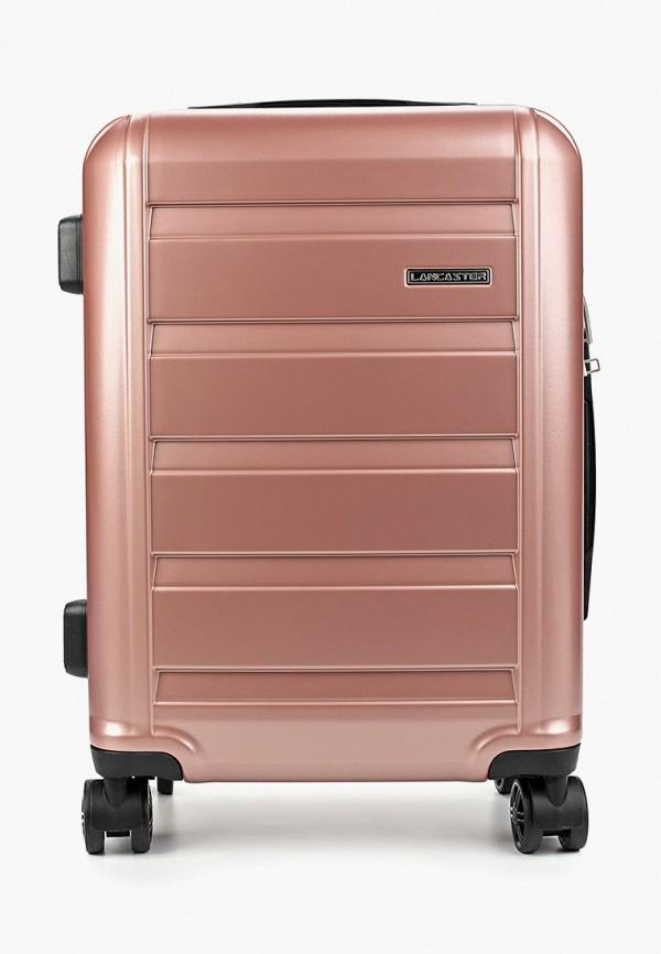 женский чемодан lancaster, розовый