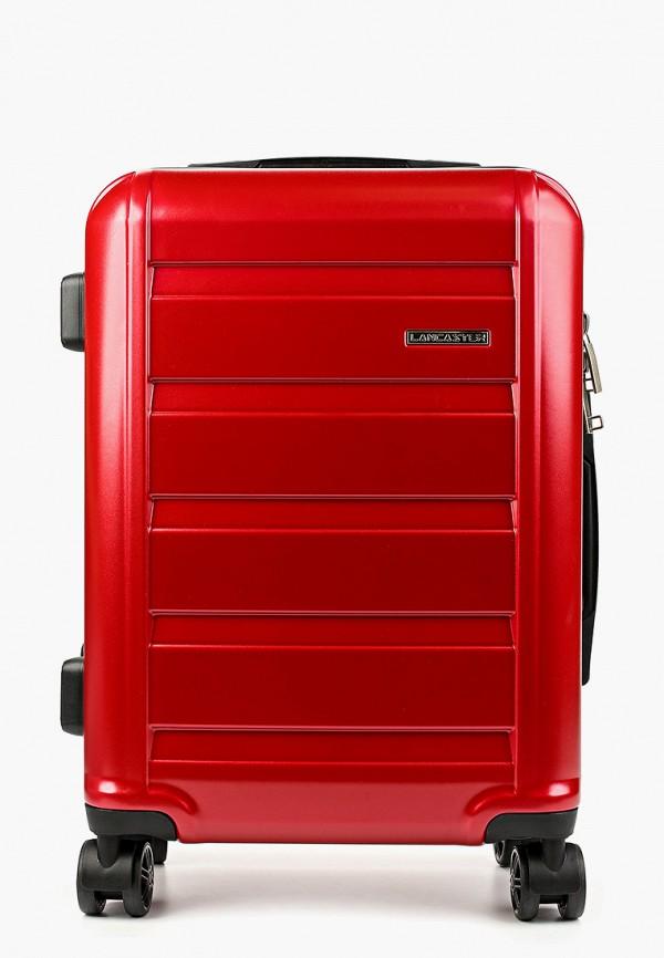 женский чемодан lancaster, красный
