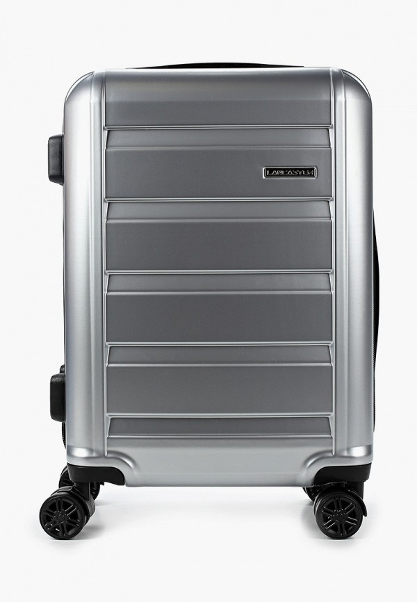 женский чемодан lancaster, серебряный