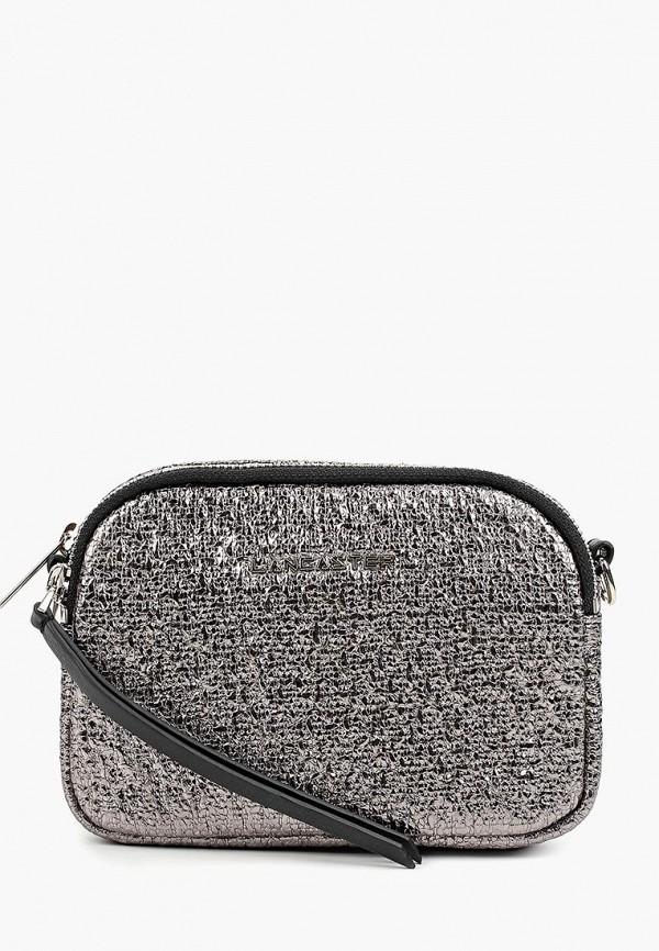 женская сумка lancaster, серебряная