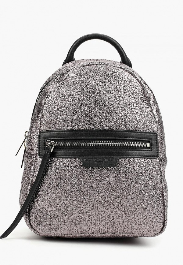 женский рюкзак lancaster, серебряный