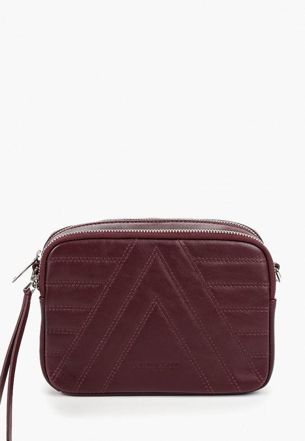 женская сумка lancaster, бордовая