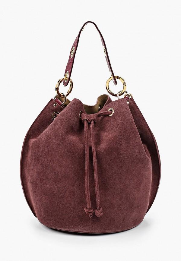 женская сумка lamania, бордовая