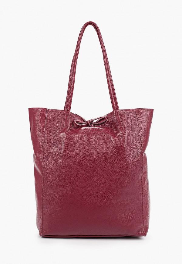 женская сумка-шоперы lamania, бордовая