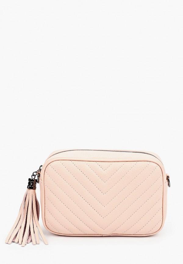 женская сумка через плечо lamania, розовая