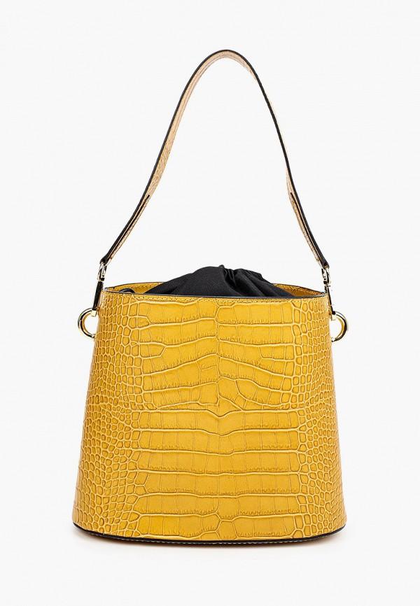 женская сумка-ведро lamania, желтая