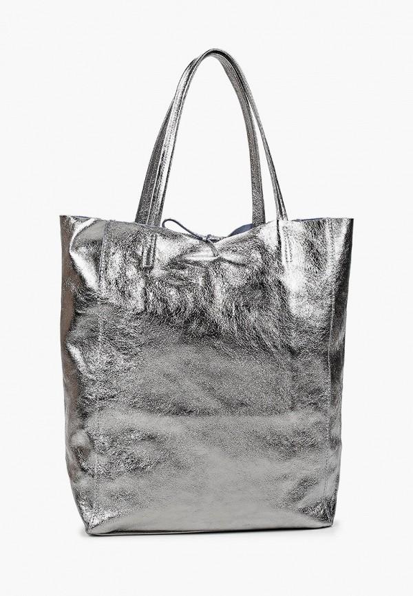 женская сумка-шоперы lamania, серебряная