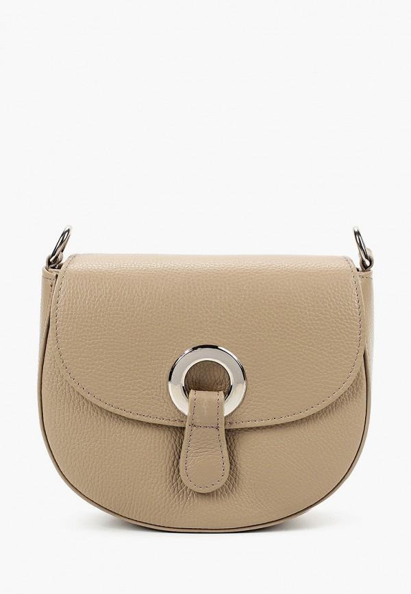 женская сумка через плечо lamania, бежевая