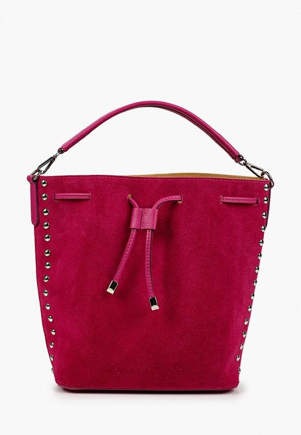 женская сумка-ведро lamania, розовая