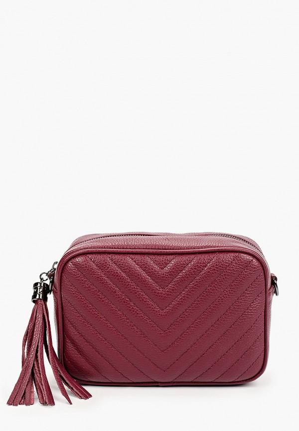 женская сумка через плечо lamania, бордовая