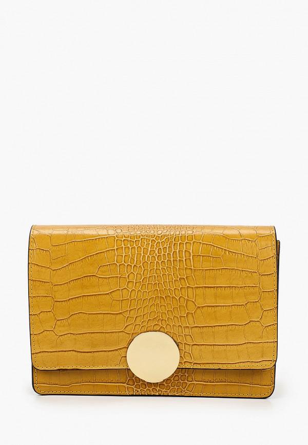 женская сумка через плечо lamania, желтая