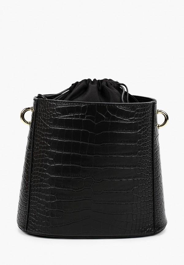 женская сумка-ведро lamania, черная