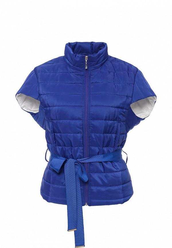Женский синий осенний утепленный жилет