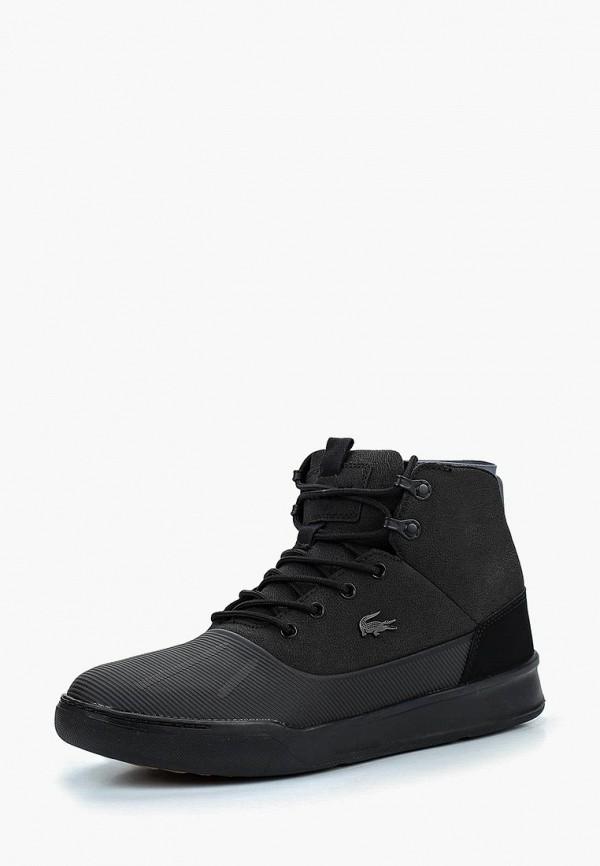 Купить Ботинки Lacoste, EXPLORATEUR HYDRO 318 1, la038amcmsm5, черный, Осень-зима 2018/2019