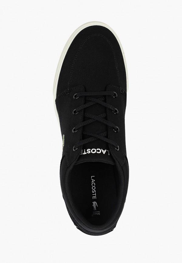 Фото 4 - мужские кеды Lacoste черного цвета
