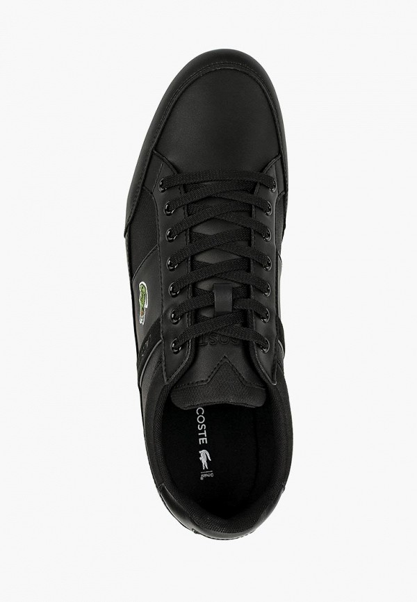 Фото 4 - мужские кроссовки Lacoste черного цвета