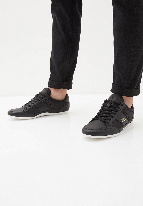 Фото 6 - мужские кроссовки Lacoste черного цвета