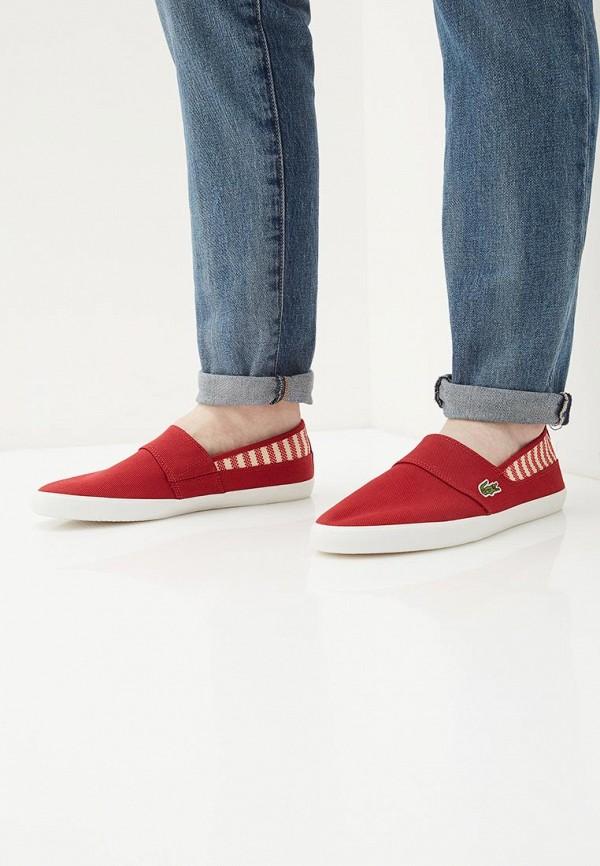 Фото 6 - Слипоны Lacoste красного цвета