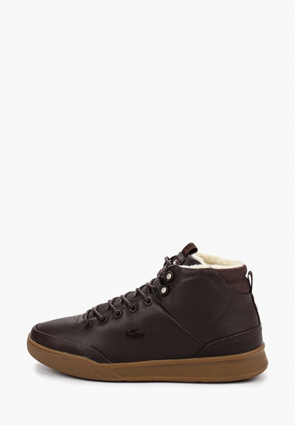 мужские ботинки lacoste, коричневые