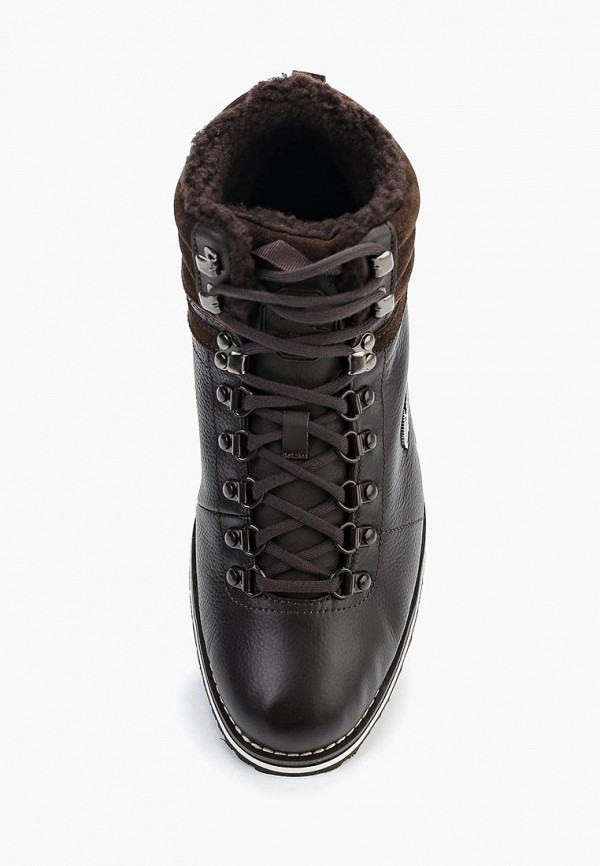 Фото 4 - мужские ботинки и полуботинки Lacoste коричневого цвета