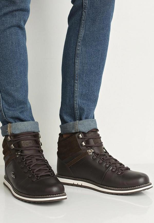 Фото 5 - мужские ботинки и полуботинки Lacoste коричневого цвета