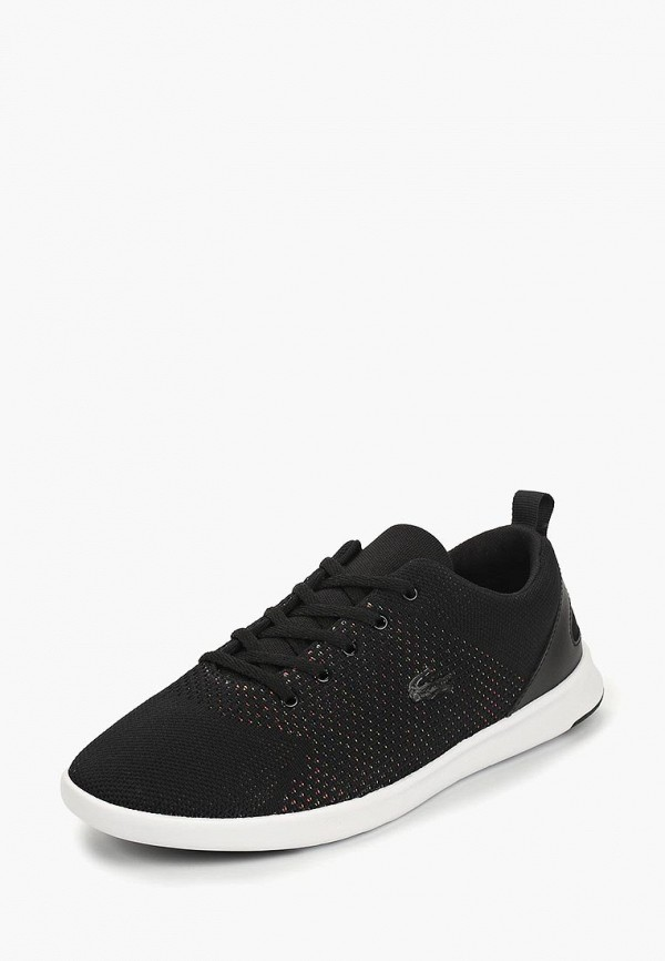Фото 2 - женские кроссовки Lacoste черного цвета