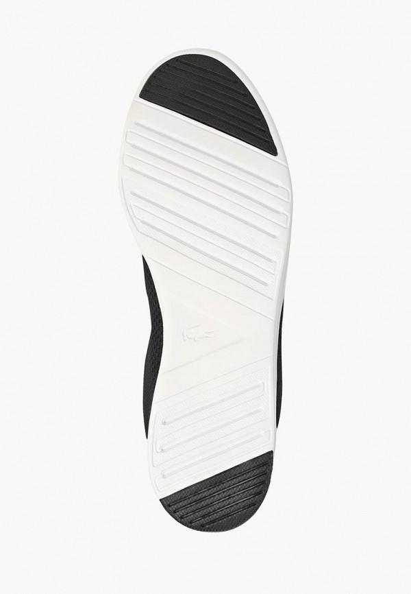 Фото 5 - женские кроссовки Lacoste черного цвета