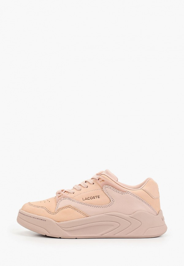 женские кроссовки lacoste, розовые