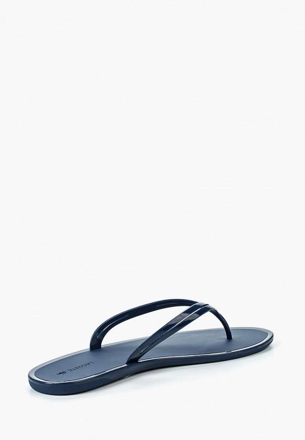 Фото 2 - Сланцы Lacoste синего цвета
