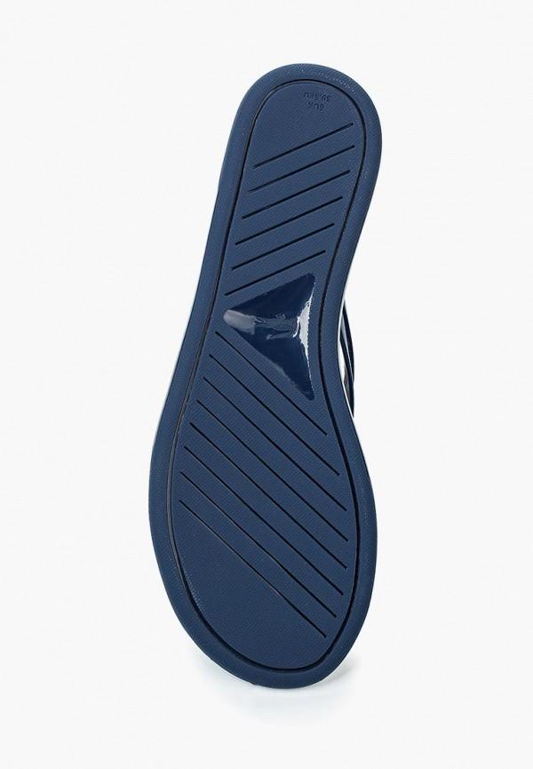 Фото 3 - Сланцы Lacoste синего цвета