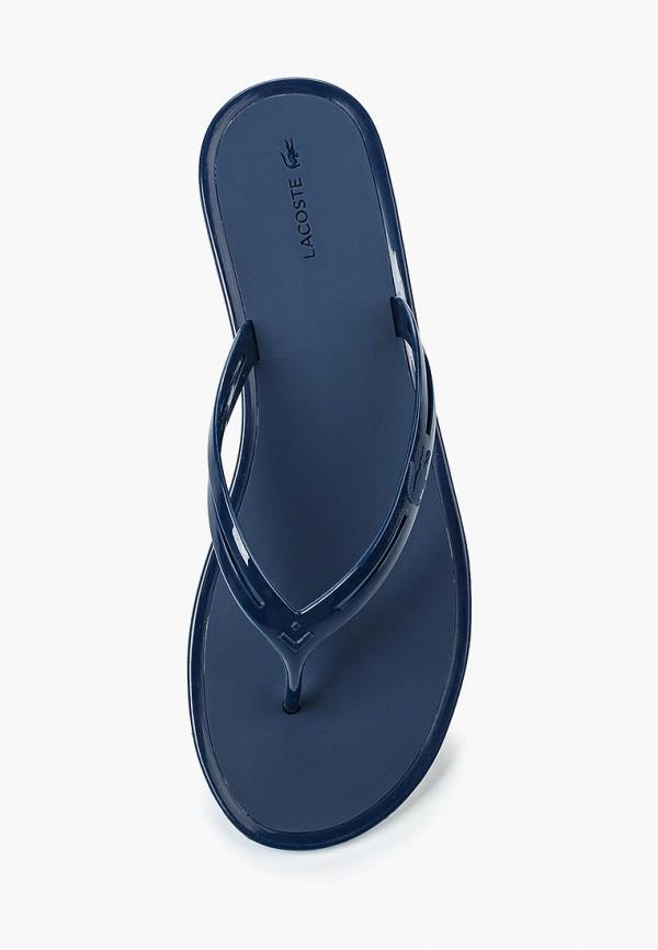 Фото 4 - Сланцы Lacoste синего цвета