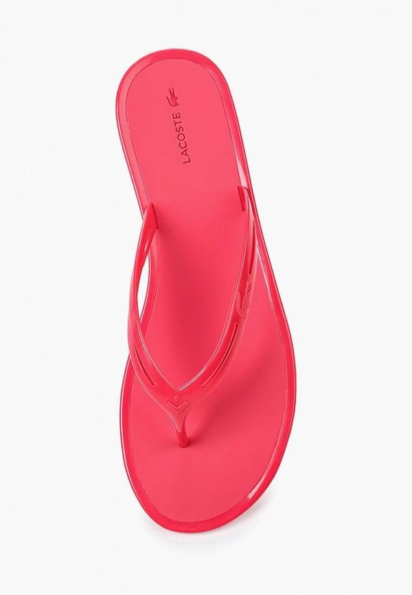 Фото 4 - Сланцы Lacoste розового цвета