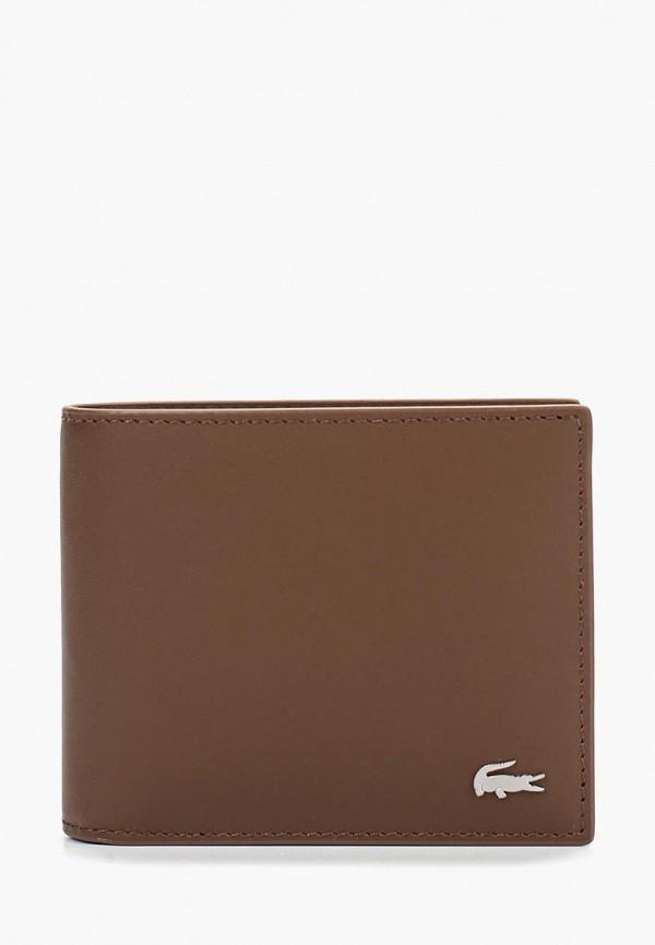 мужской кошелёк lacoste, коричневый