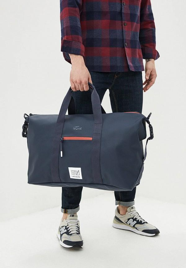 Фото 4 - мужской рюкзак Lacoste черного цвета