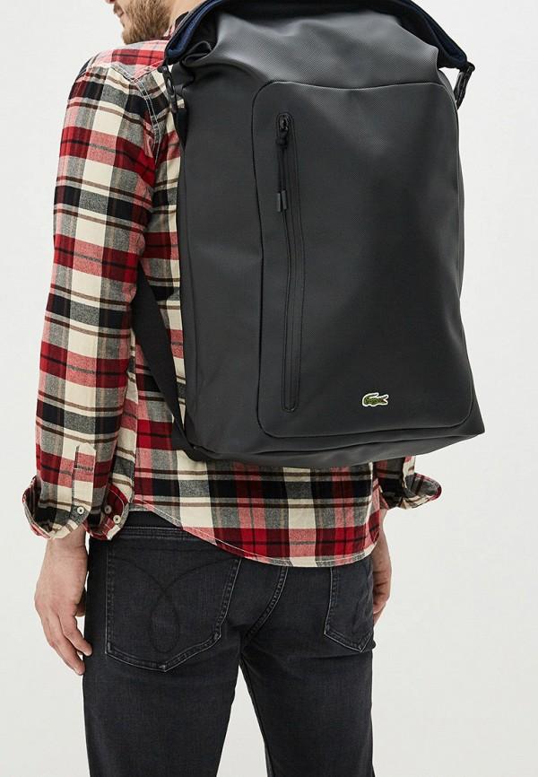 Фото 5 - мужской рюкзак Lacoste черного цвета