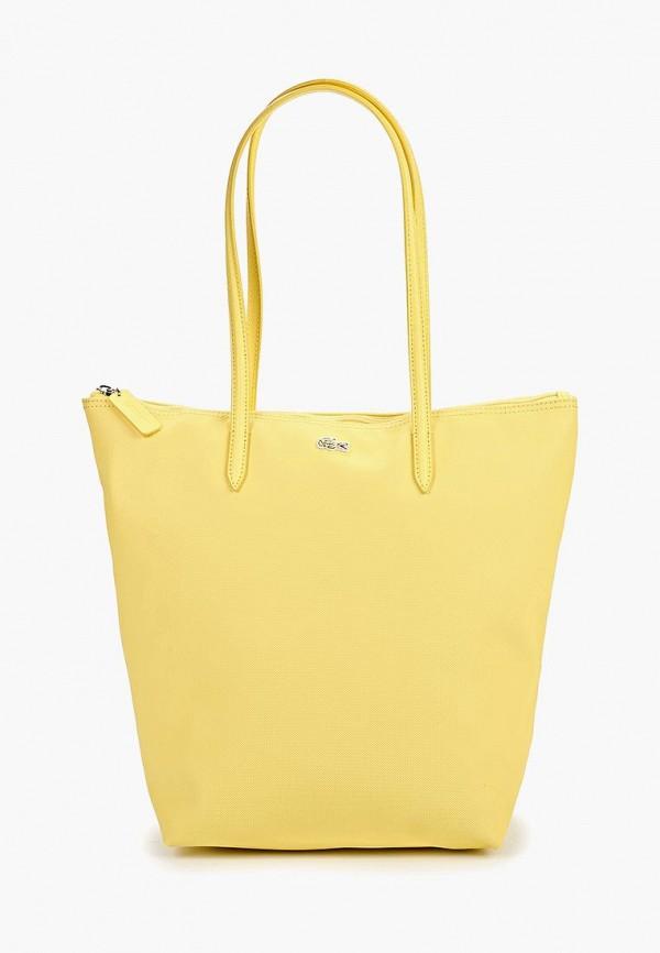 женская сумка lacoste, желтая