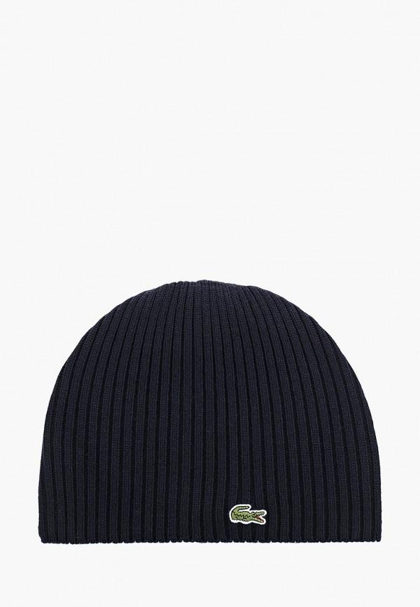 Фото 6 - мужскую шапку Lacoste синего цвета