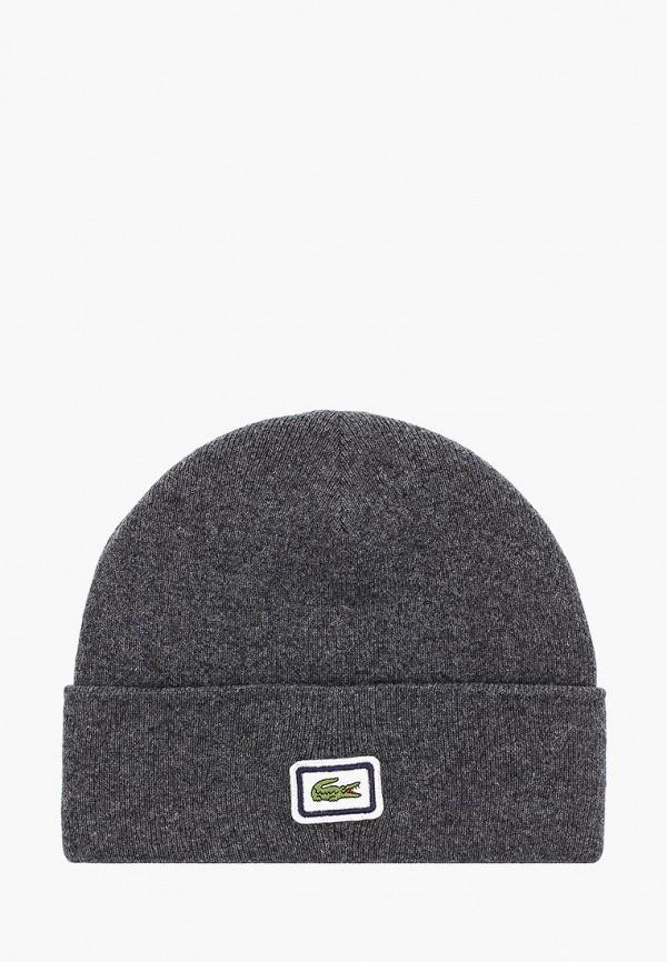 мужская шапка lacoste, серая