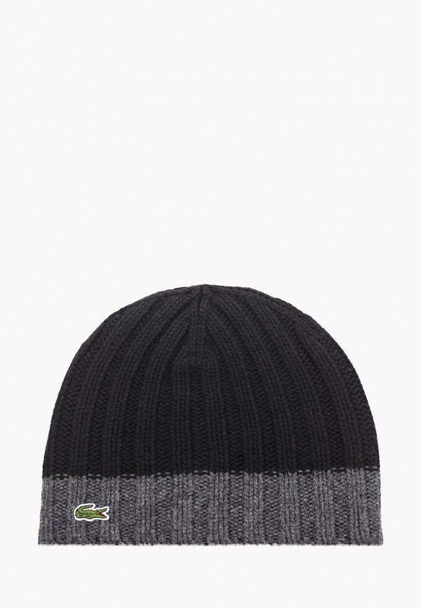 мужская шапка lacoste, черная