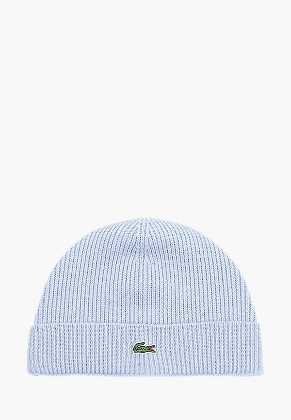 мужская шапка lacoste, голубая