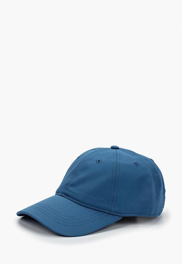 женская бейсболка lacoste, голубая