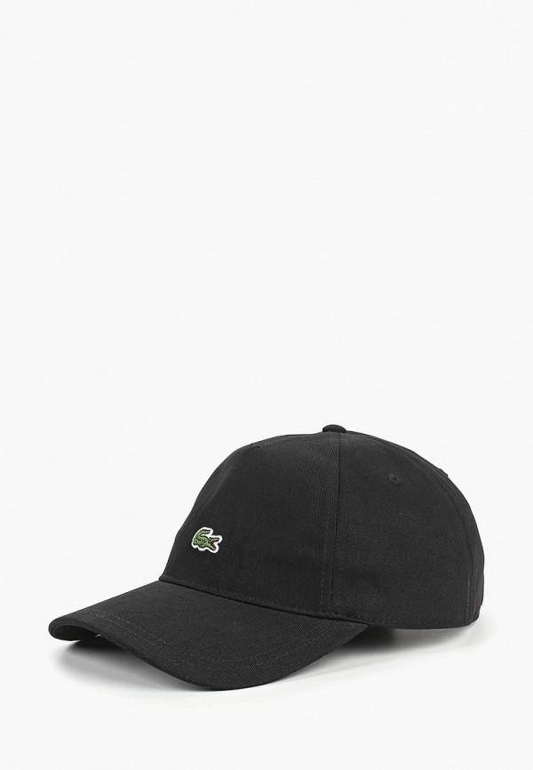 женская бейсболка lacoste, черная