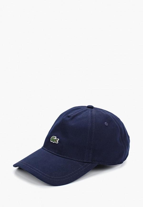 женская бейсболка lacoste, синяя