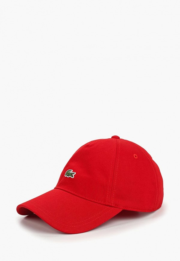 женская бейсболка lacoste, красная