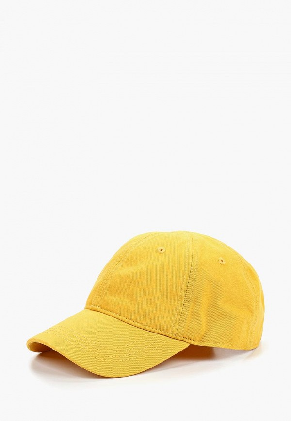 женская бейсболка lacoste, желтая