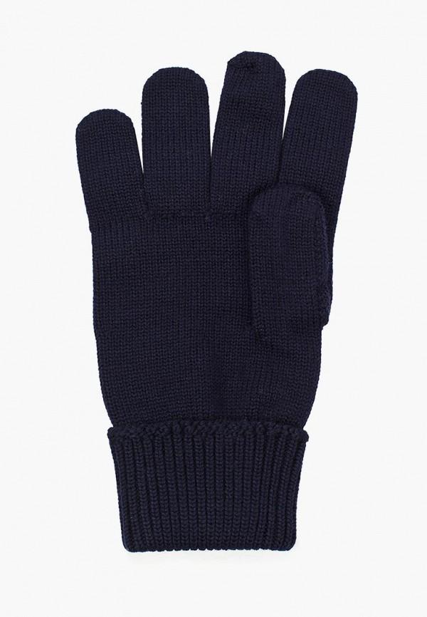 Фото 6 - мужские текстильные перчатки Lacoste синего цвета