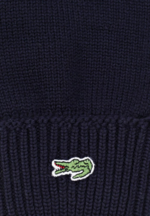 Фото 8 - мужские текстильные перчатки Lacoste синего цвета